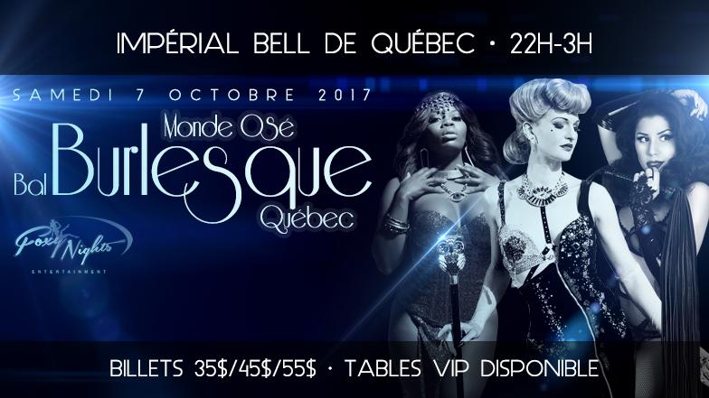 Monde Osé's Burlesque Ball, Quebec