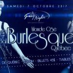 Monde Osé, Bal Burlesque, Quebec, 2017