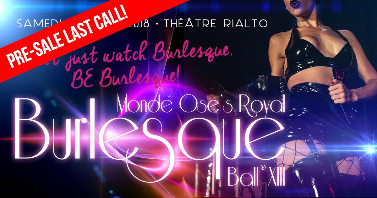 Burlesque Ball 2018 - Pre-sale Last call!
