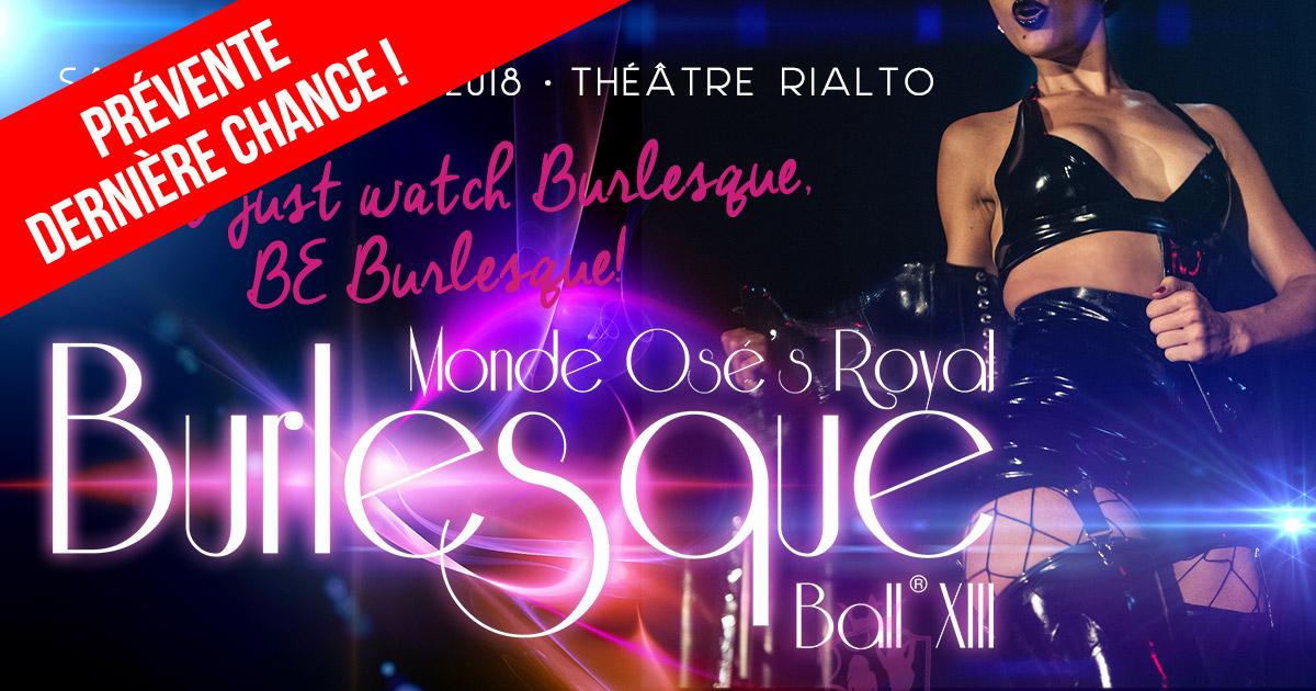 Bal Burlesque 2018 - Prévente Dernière chance !